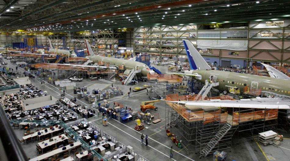 Linea de ensamblaje del Boeing 787